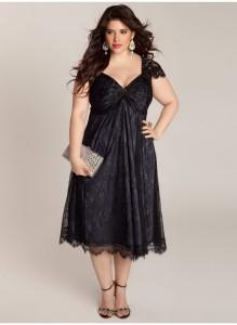 Czarne sukienki dla puszystych